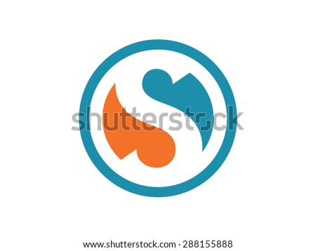 Abstract Letter S Shape Logo Design Download Free Vector Art