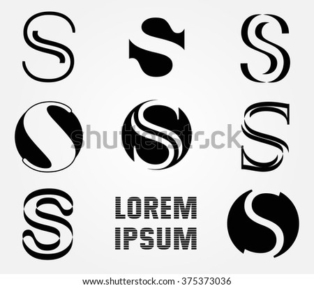 luxury logo concept design with letter s download free vector art