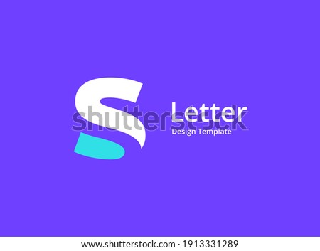 Letter S logo icon design template elements Stok fotoğraf ©