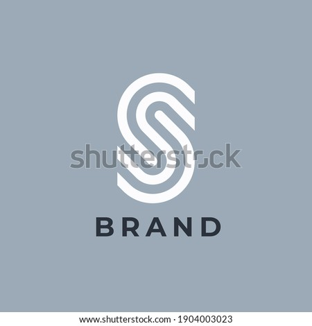 Letter S logo template. Fingerprint ID symbol. Modern creative logotype. Vector icon. Stock fotó ©