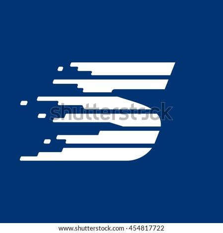 letter s logo with fast speed