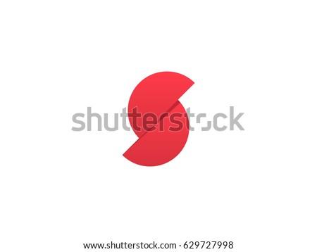 letter s  modern monogram