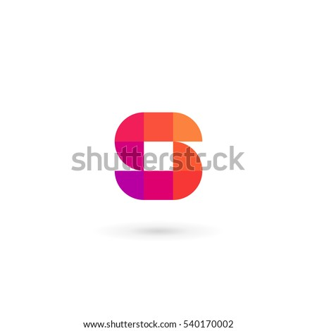 letter s mosaic logo icon
