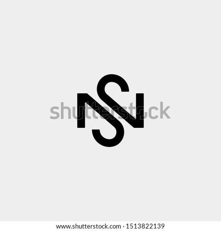 Letter S N SN NS Logo Design Simple Vector Stock fotó ©