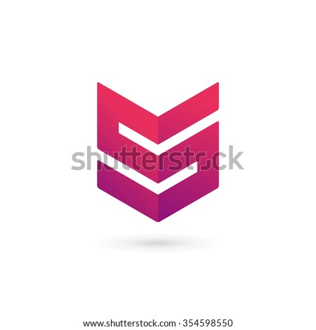 Letter S number 5 shield logo icon design template elements