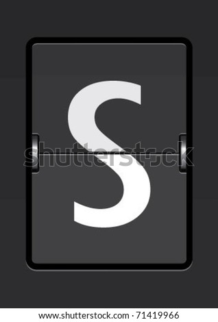 letter  s on a mechanical timetable