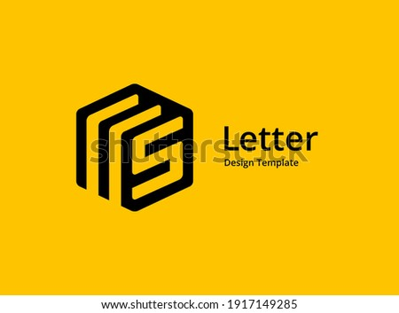 Letter S or number 5 document logo icon design template elements