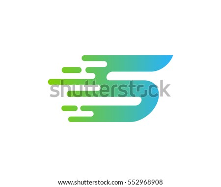 Letter S Speed Logo Design Element