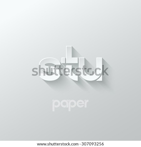letter s t u logo alphabet icon