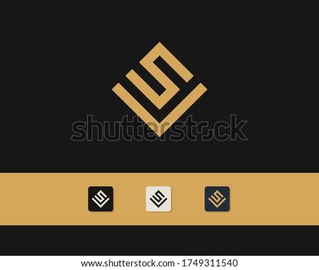 Letter S V logo design. creative minimal monochrome monogram symbol. Universal elegant vector emblem. Premium business logotype. Graphic alphabet symbol for corporate identity Stock fotó ©