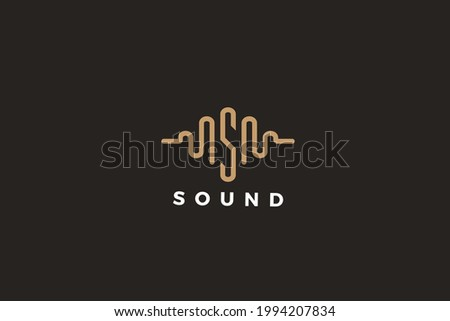 Letter S wave frequency business logo Stock fotó ©