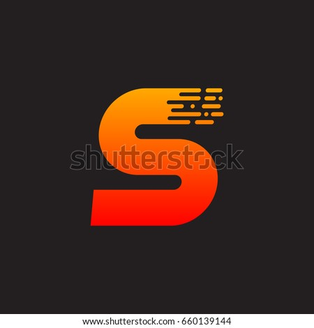 letter s with fast logo  speed
