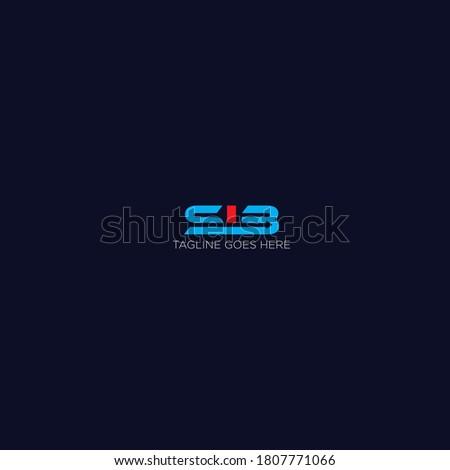 Letter SIB Design logo inspiration Stok fotoğraf ©