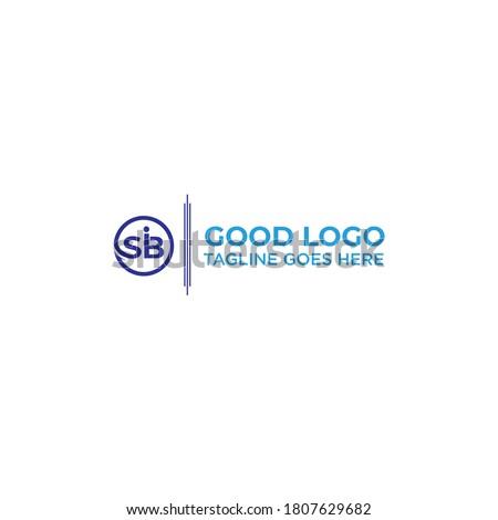 Letter SIB Initial logo design inspiration Stok fotoğraf ©