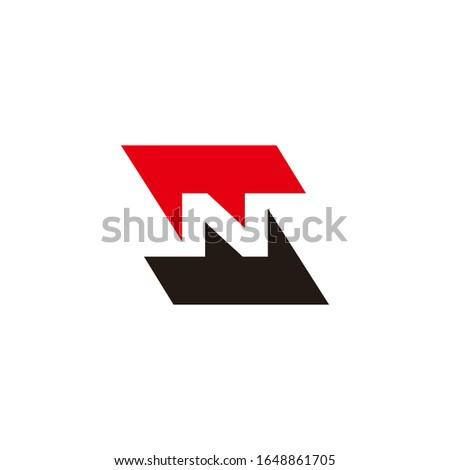letter sn symbol geometric arrow logo vector Stock fotó ©