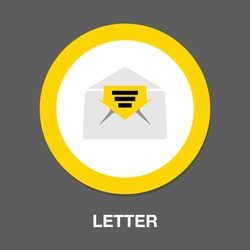letter symbol icon. Simple element illustration. letter concept symbol design. Can be used for web and mobile UI/UX