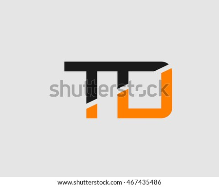 letter t and d logo template
