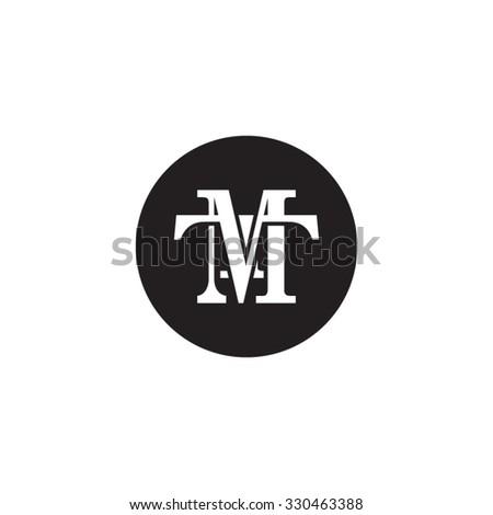 letter T and M monogram circle logo Stock fotó ©