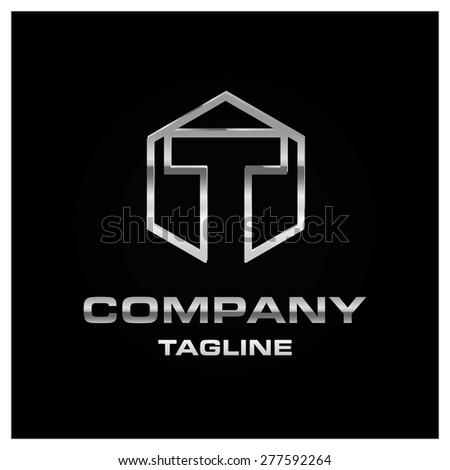 letter t logo alphabet