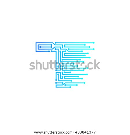 6d69bed43 Letter T Logo Design Template,technology,electronics,digital,logotype Free  Stock Image