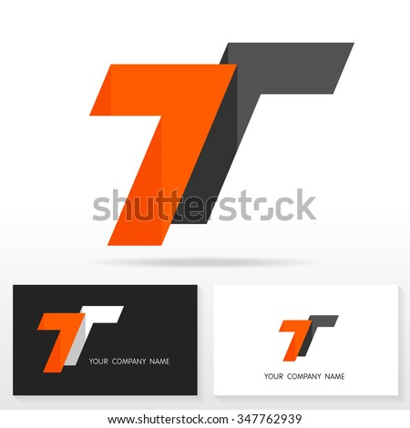 pic  stock vector letter t logo design sign business card templates