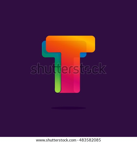 letter t logo formed by