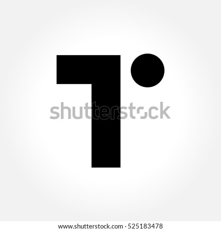 letter t logo icon design