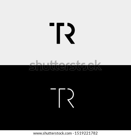 Letter TR RT T R Logo Design Simple Vector Stock fotó ©