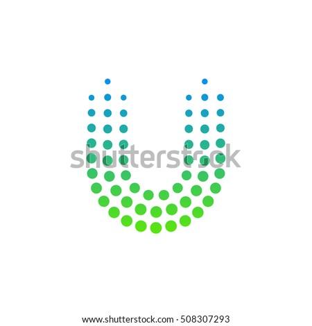 letter u logodots logo dotted