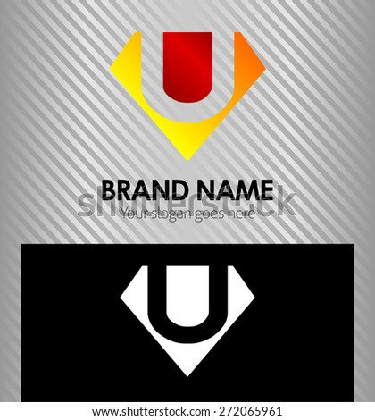 letter u logo vector alphabet