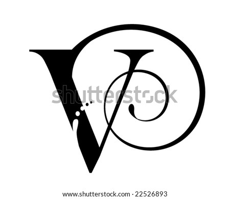 Letter V  V Tattoo Designs