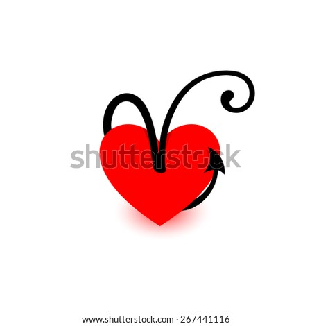 Letter V Beautiful Vector Love Logo The Symbol Of Union Passion And