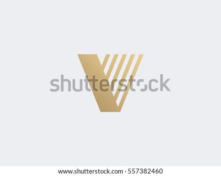 letter v logo concept creative