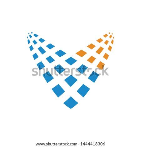 letter v logo template vector