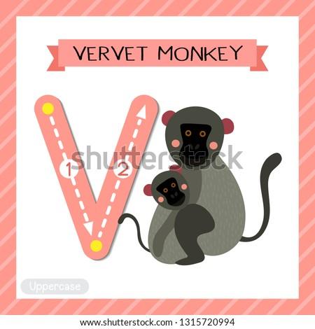 letter v uppercase cute