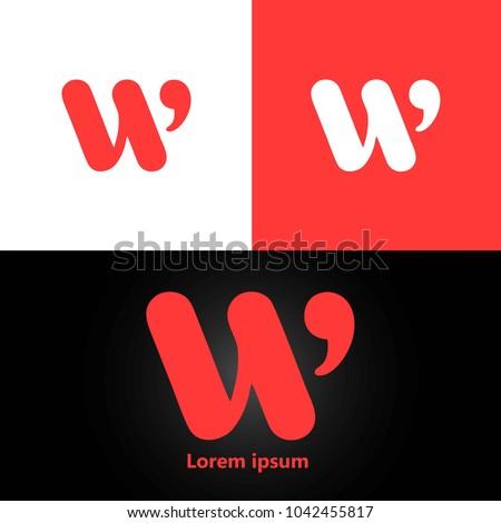 letter W logo design template element. vector logotype
