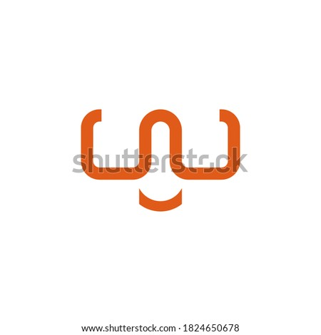 letter w logo that forms glasses with a smile curve. for outdoor and adventure products Zdjęcia stock ©
