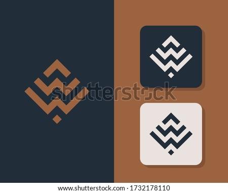 Letter W W logo design. creative minimal monochrome monogram symbol. Universal elegant vector emblem. Premium business logotype. Graphic alphabet symbol for corporate identity Zdjęcia stock ©