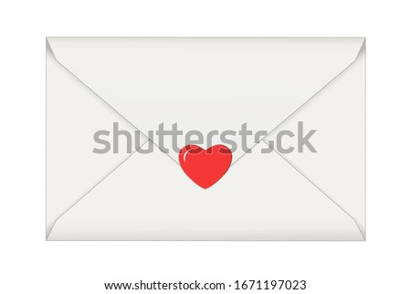 letter with heart  message of