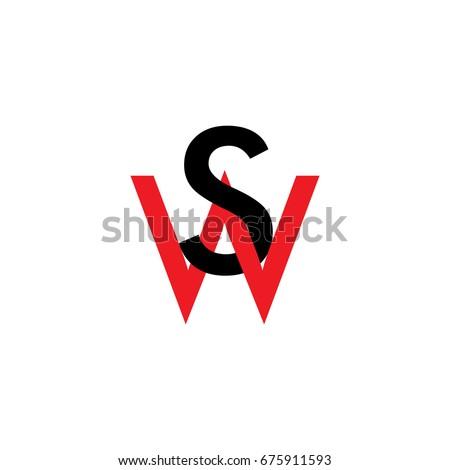 letter ws sw in 3d design logo vector Zdjęcia stock ©