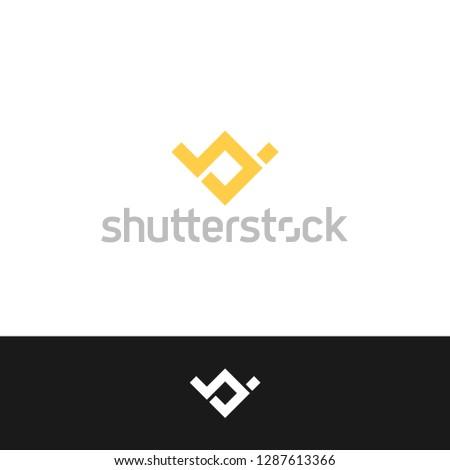 Letter WV, Letter VW, Letter W, Letter V icon / logo template