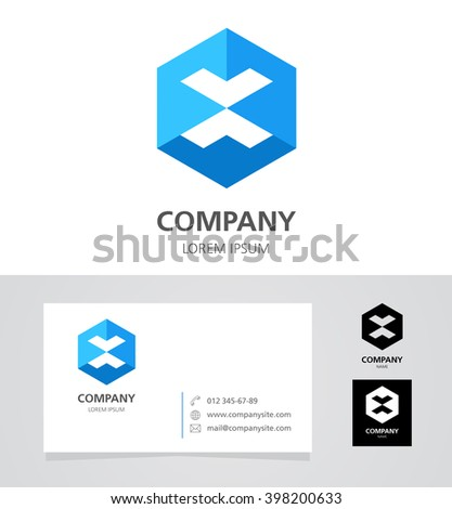 letter x   logo design element