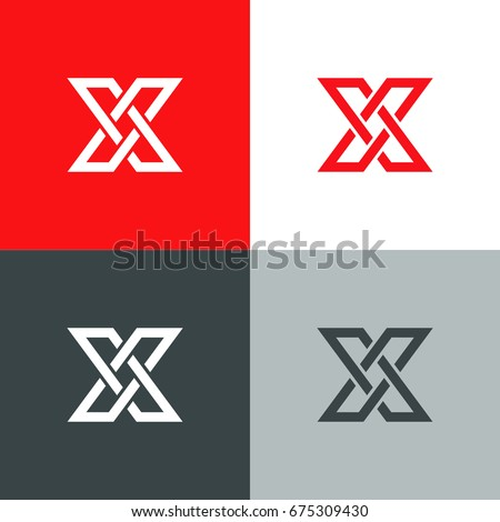 letter x logo icon design