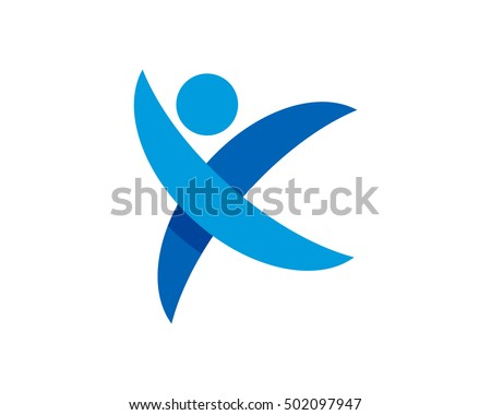 letter x people logo design