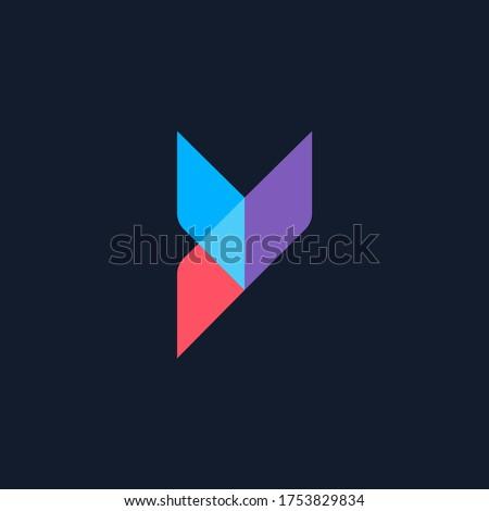 letter y logo design, modern letter y, vector logo Foto stock ©