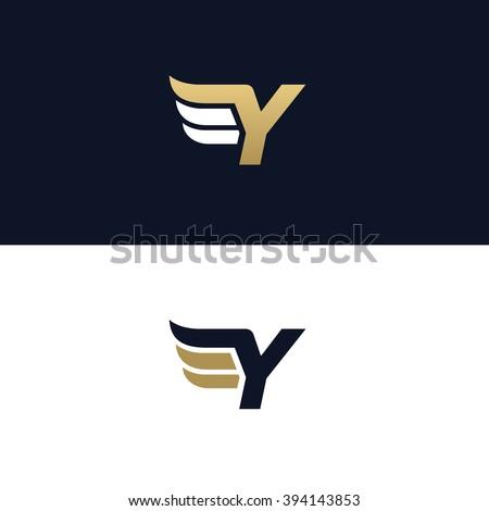Letter Y logo te...Y Logo Design