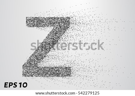 letter z from the particles