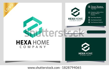 letter Z hexagon home colorful logo design inspiraton, business card