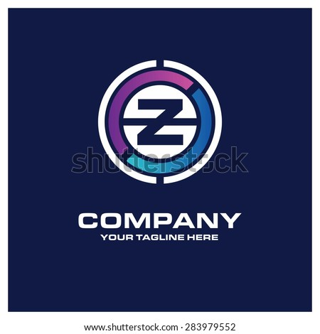 Letter Z logo - Creative  Z Logo Blue Circle Name