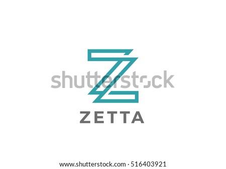Stock Vector Letter Z Logo Design Template